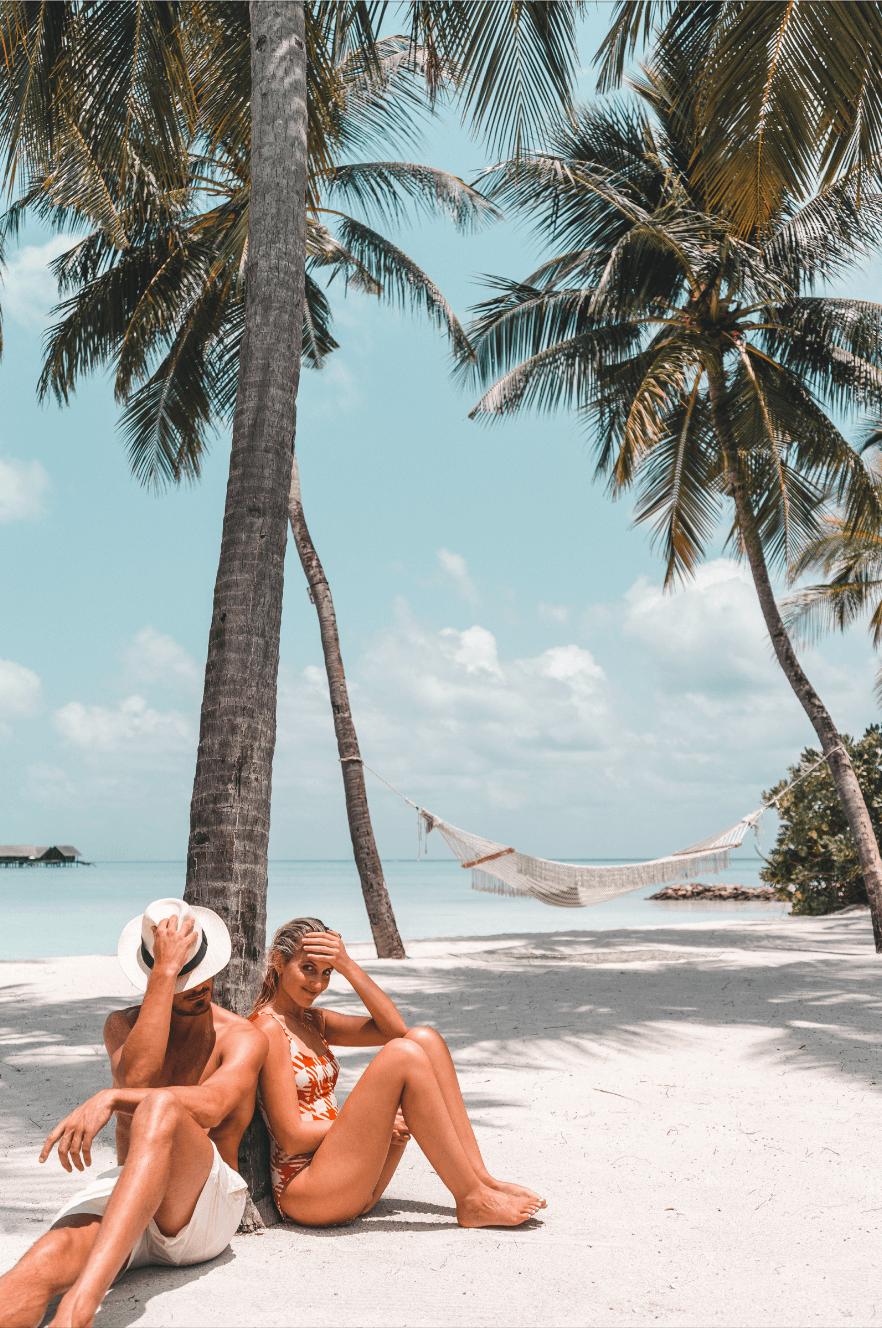 Private beach in the Maldives