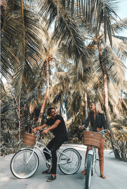 biking around at One&Only Reethi Rah