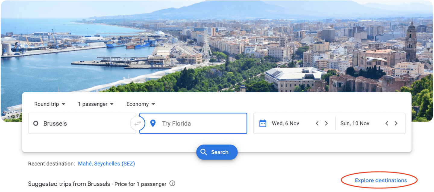 google flights screenshot
