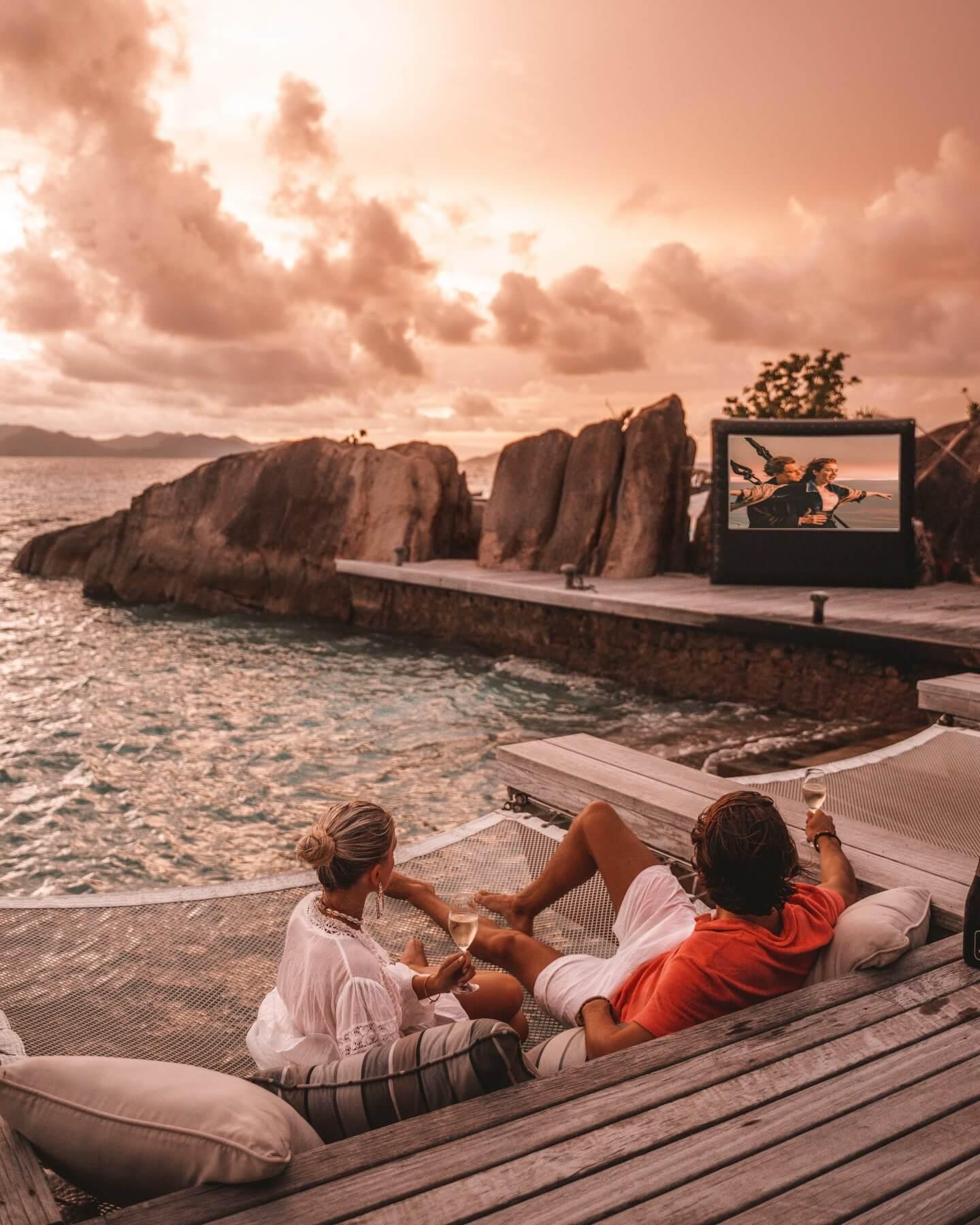 Open Air Cinema at Six Senses Zil Pasyon