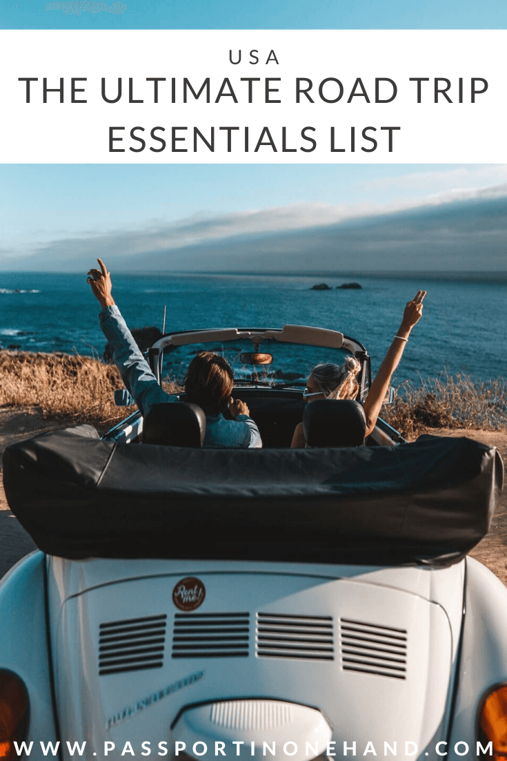 USA ROAD TRIP ESSENTIALS LIST